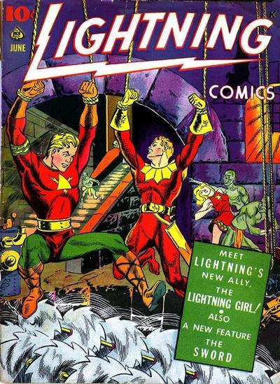 Cover for Lightning Comics (Ace Magazines, 1940 series) #v3#1