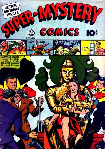 Cover for Super-Mystery Comics (Ace Magazines, 1940 series) #v1#4