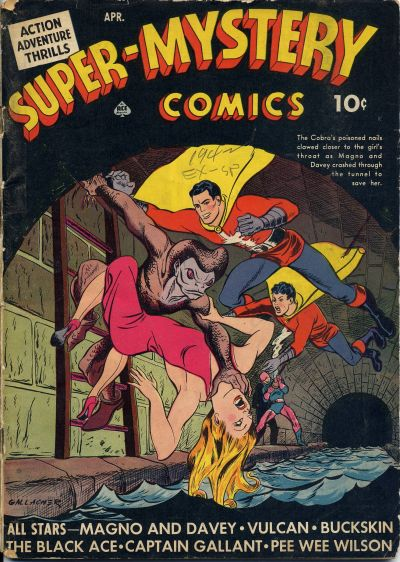 Cover for Super-Mystery Comics (Ace Magazines, 1940 series) #v3#1