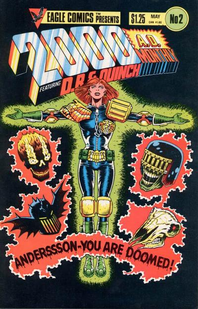 Cover for 2000 A.D. (Eagle Comics, 1986 series) #2