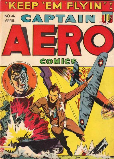Cover for Captain Aero Comics (Holyoke, 1942 series) #v1#10 (4)