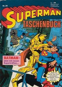 Cover Thumbnail for Superman Taschenbuch (Egmont Ehapa, 1976 series) #39
