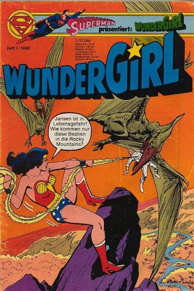 Cover for Wundergirl (Egmont Ehapa, 1976 series) #7/1980