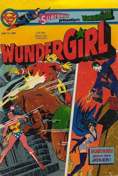 Cover for Wundergirl (Egmont Ehapa, 1976 series) #12/1981