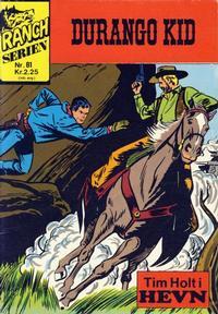 Cover Thumbnail for Ranchserien (Illustrerte Klassikere / Williams Forlag, 1968 series) #81