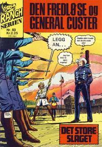 Cover Thumbnail for Ranchserien (Illustrerte Klassikere / Williams Forlag, 1968 series) #93