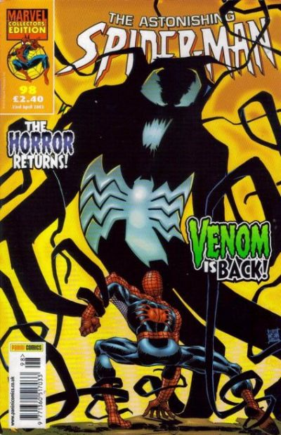 Cover for The Astonishing Spider-Man (Panini UK, 1995 series) #98