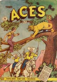 Cover Thumbnail for Three Aces Comics (Anglo-American Publishing Company Limited, 1941 series) #55