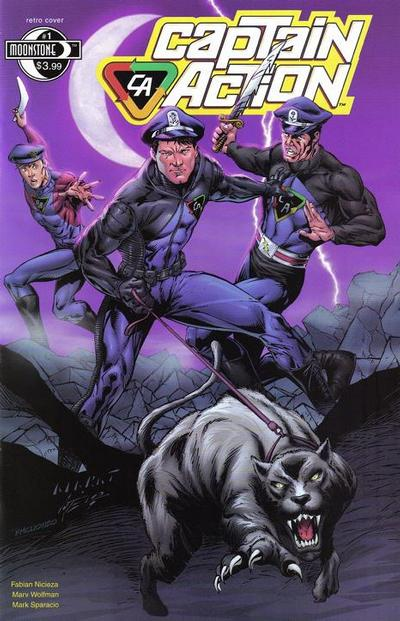 Cover for Captain Action Comics (Moonstone, 2008 series) #1 [Cover A Modern]