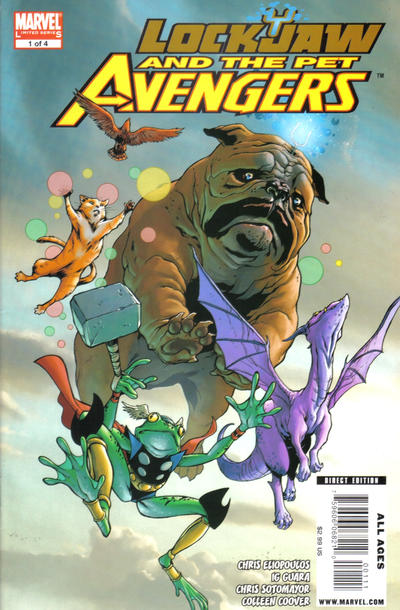 Cover for Lockjaw and the Pet Avengers (Marvel, 2009 series) #1