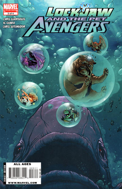 Cover for Lockjaw and the Pet Avengers (Marvel, 2009 series) #3