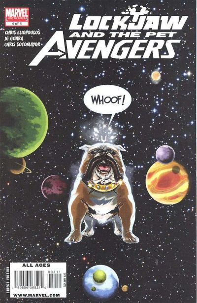 Cover for Lockjaw and the Pet Avengers (Marvel, 2009 series) #4 [Henrichon Variant Cover]