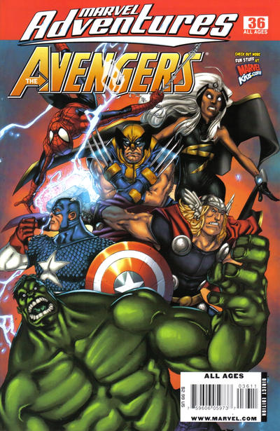 Cover for Marvel Adventures The Avengers (Marvel, 2006 series) #36