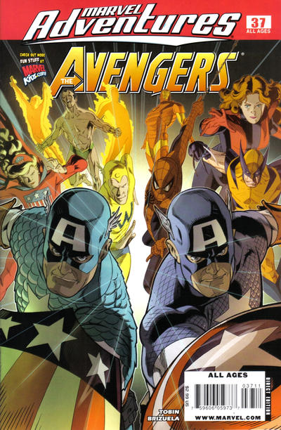 Cover for Marvel Adventures The Avengers (Marvel, 2006 series) #37