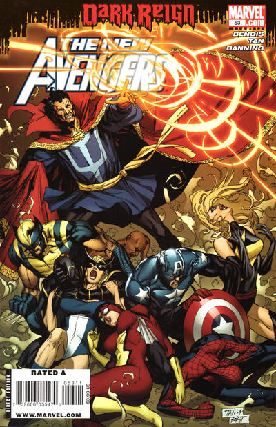 Cover for New Avengers (Marvel, 2005 series) #53 [Chris Bachalo Variant Cover]