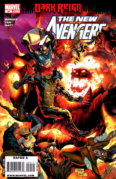 Cover for New Avengers (Marvel, 2005 series) #54 [Second Printing]