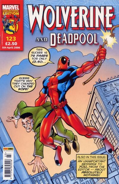 Cover for Wolverine and Deadpool (Panini UK, 2004 series) #123