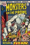 Cover for Monsters on the Prowl (Marvel, 1971 series) #14