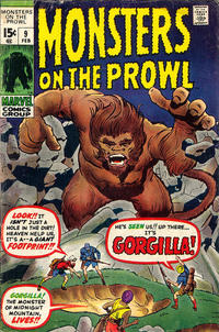 Cover Thumbnail for Monsters on the Prowl (Marvel, 1971 series) #9