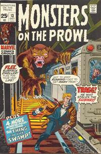 Cover for Monsters on the Prowl (Marvel, 1971 series) #13