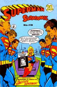 Cover Thumbnail for Superman Supacomic (K. G. Murray, 1959 series) #119