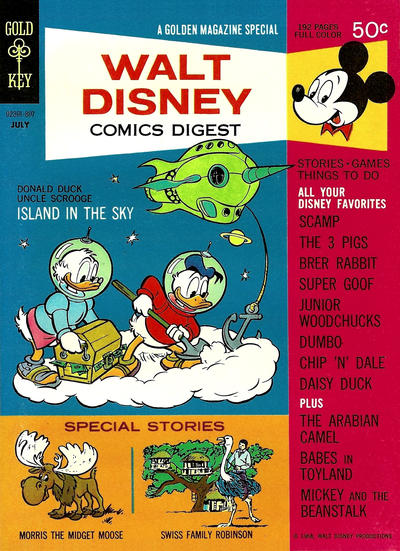 Cover for Walt Disney Comics Digest (Western, 1968 series) #2