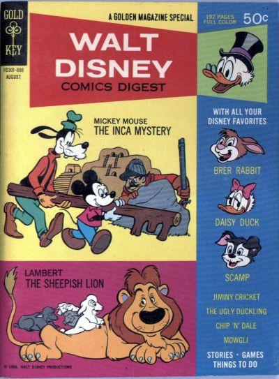 Cover for Walt Disney Comics Digest (Western, 1968 series) #3