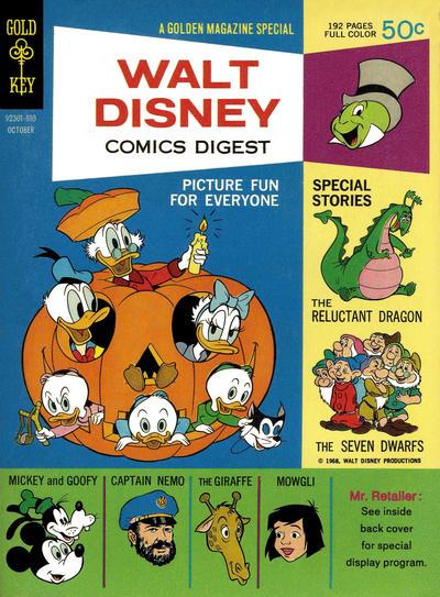 Cover for Walt Disney Comics Digest (Western, 1968 series) #4
