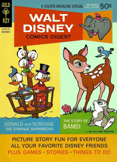 Cover for Walt Disney Comics Digest (Western, 1968 series) #5