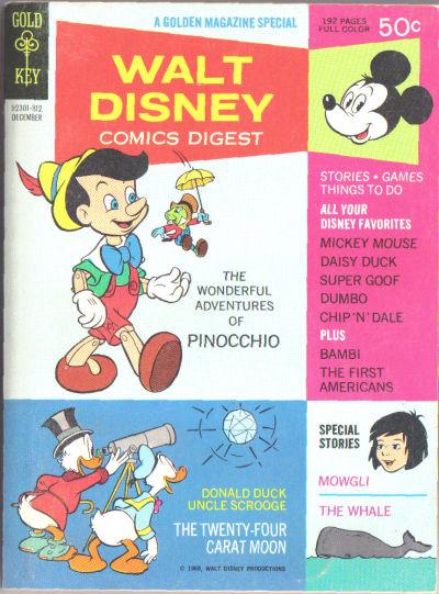 Cover for Walt Disney Comics Digest (Western, 1968 series) #6