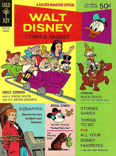 Cover for Walt Disney Comics Digest (Western, 1968 series) #7