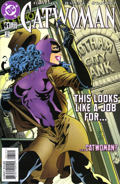 Cover for Catwoman (DC, 1993 series) #61 [Direct Edition]