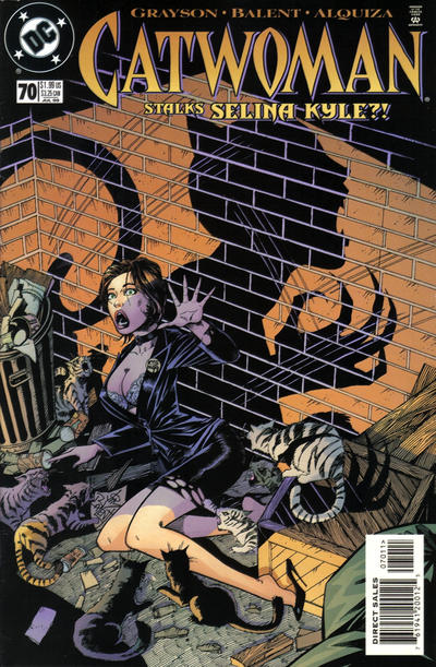 Cover for Catwoman (DC, 1993 series) #70 [Direct Edition]
