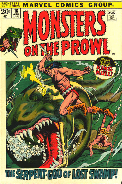 Cover for Monsters on the Prowl (Marvel, 1971 series) #16