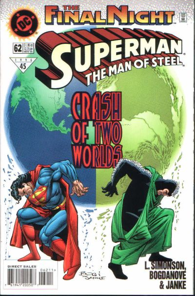 Cover for Superman: The Man of Steel (DC, 1991 series) #62