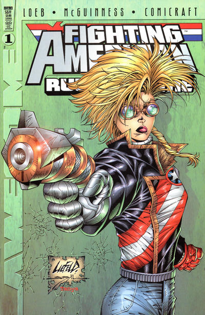 Cover for Fighting American: Rules of the Game (Awesome, 1997 series) #1 [Cover B]