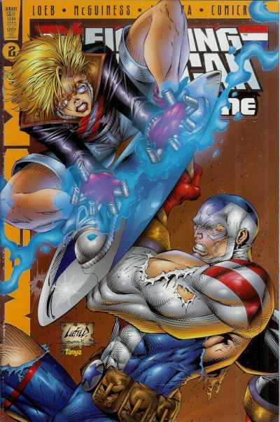 Cover for Fighting American: Rules of the Game (Awesome, 1997 series) #2 [Cover A]