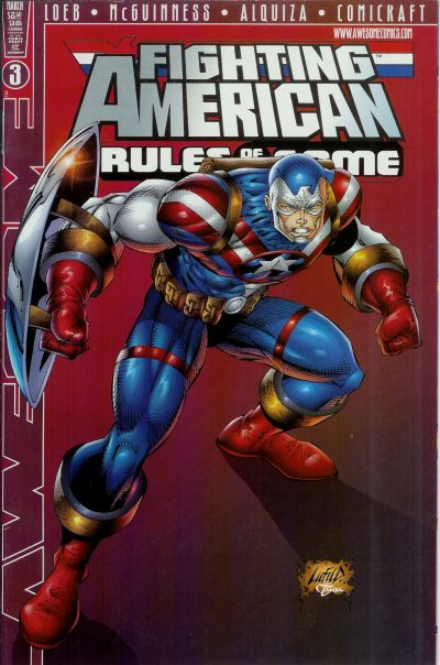 Cover for Fighting American: Rules of the Game (Awesome, 1997 series) #3 [Cover B]