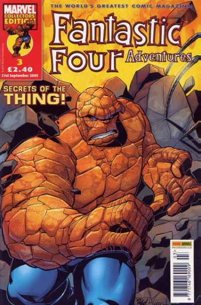 Cover for Fantastic Four Adventures (Panini UK, 2005 series) #3