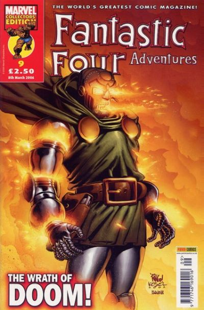 Cover for Fantastic Four Adventures (Panini UK, 2005 series) #9
