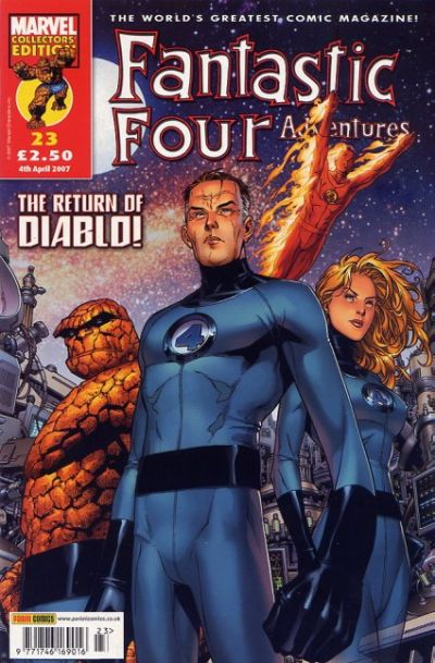 Cover for Fantastic Four Adventures (Panini UK, 2005 series) #23