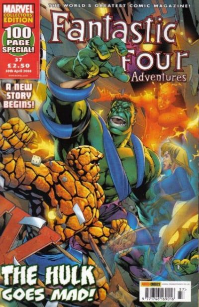Cover for Fantastic Four Adventures (Panini UK, 2005 series) #37