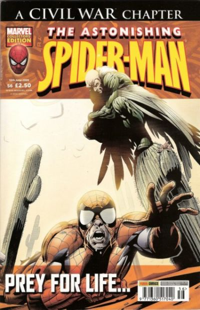 Cover for The Astonishing Spider-Man (Panini UK, 2007 series) #56