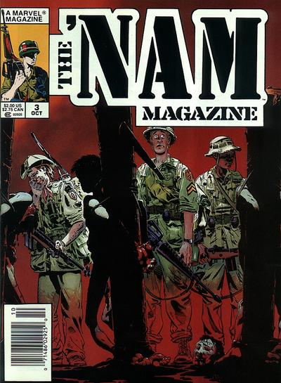Cover for The 'Nam Magazine (Marvel, 1988 series) #3 [Newsstand]