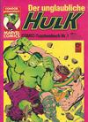 Cover for Der unglaubliche Hulk (Condor, 1980 series) #1