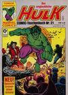 Cover for Der unglaubliche Hulk (Condor, 1980 series) #21