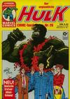 Cover for Der unglaubliche Hulk (Condor, 1980 series) #26