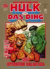 Cover for Marvel Comic Exklusiv (Condor, 1987 series) #3 - Der unglaubliche Hulk und das Ding - Operation Galactica