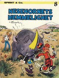 Cover Thumbnail for Sprint & Co. (Forlaget For Alle A/S, 1974 series) #8 - Nesehornets hemmelighet