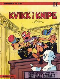 Cover Thumbnail for Sprint [Sprint & Co.] (Interpresse, 1977 series) #11 - Kvikk i knipe